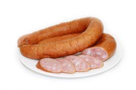 Салями из мяса индейки Колбаса мясная «КРАКОВСКАЯ» к/в, в/у.
